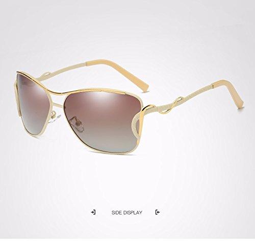 para de Marco Grande Moda de Adultos Gafas de Gato Ruanyi Sol Ojo de Vintage Sol Metal Sol Gafas Gafas Sol Gafas de Mujer Sol Yellow de Sol UV400 Espejo para de Gafas de Sol de de de de Gafas Polaroid tYtAa