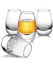ZENS Sake Glasses Set with Warmer 16.9oz, Clear Japanese Sake Cups and 8.45oz Decanter for Cold or Hot Liquor