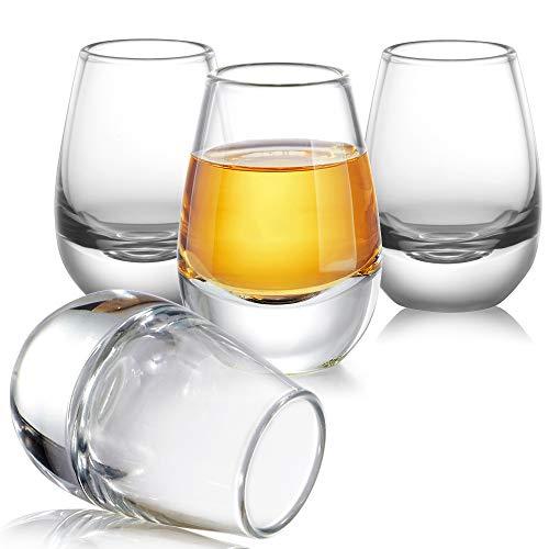 Sake Cups Set of 4,Cold Sake Glasses Cup Set,Japanese Sake Cups Gift Set for Cold Sake Wine Lover,Vodka and Rum,1.4OZ/40ML