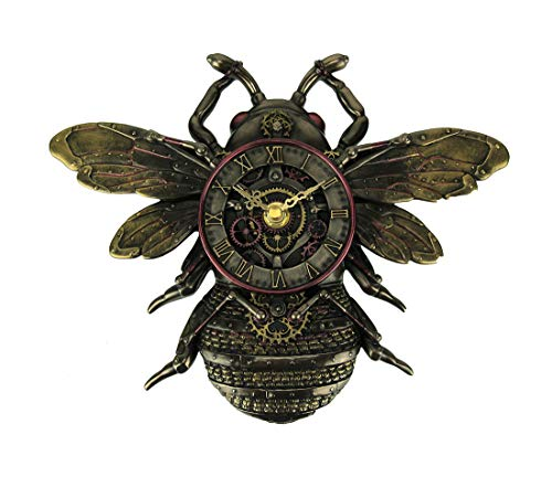 Veronese Design Resin Wall Clocks Steampunk Style Bronze Finish Honeybe