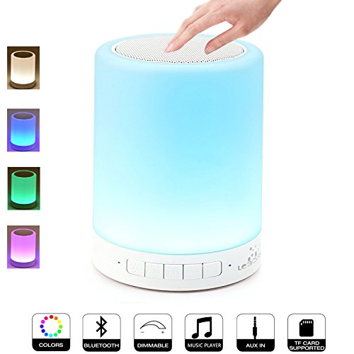 Leadleds Night Light with Bluetooth Speaker, Portable Wir...