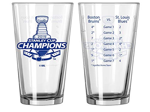 St. Louis Blues Stanley Cup Champions Official 16 oz. Summary Pint Beer Glass