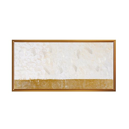 RE Aura Landscape Framed Canvas Wall Art 36X17, Modern/Contemporary Wood Hand Embellished Wall Décor ()