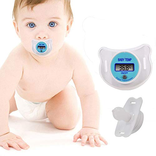 - Swovo Thermometer Baby Kids Thermometer Digital LCD Health Baby Nipple Pacifier Shape Thermometers Quick Accurate Read Out Display Temperature