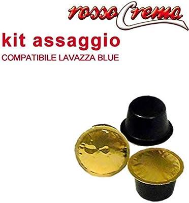 Kit Assaggio rossocrema 15 Cápsulas compatibles Lavazza Blue (5 Intenso + 5 Arabica + 5 Dek) monodosis