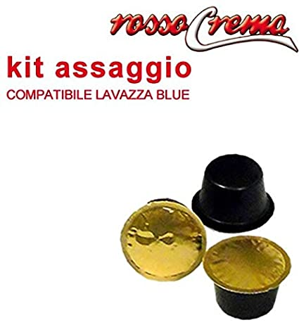 Kit Assaggio rossocrema 15 Cápsulas compatibles Lavazza Blue (5 Intenso + 5 Arabica + 5