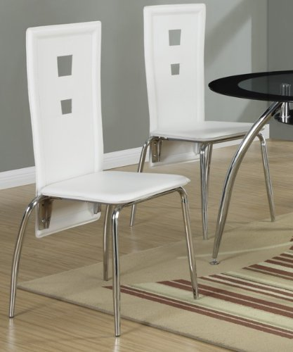 4d5ad98a92ac Image Unavailable. Image not available for. Color: Poundex Dining Chairs,  White ...
