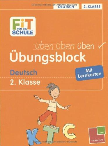 Übungsblock. Deutsch 2. Klasse: Mit Lernkarten