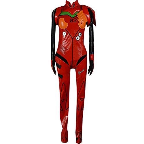 Anime Asuka Langley Soryu Cosplay Costume Battle Suit Halloween Red