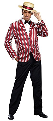 Costume 1920s Boater (Dreamgirl Men's Good Time Charlie 1920s Style Costume, Multi,)