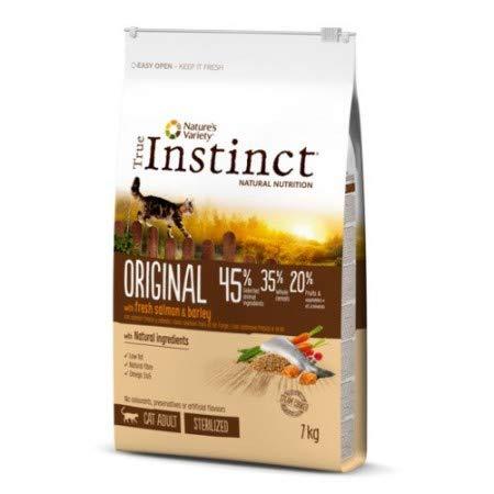 True Instinct Original Pienso para Gato Esterilizado Adulto con Salmón Pack 2 x 7 kg: Amazon.es: Productos para mascotas