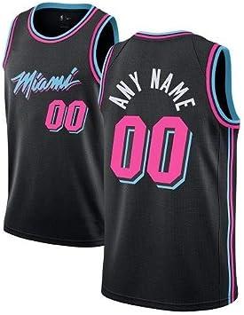 WOLFIRE WF Camiseta de Baloncesto para Hombre Personalizable, NBA, Miami Heat. Bordado, Transpirable y Resistente al Desgaste Camiseta para Fan: Amazon.es: Deportes y aire libre