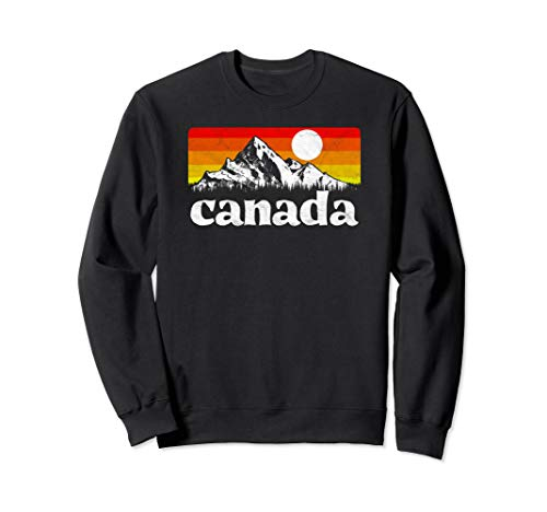 Vintage Canada Retro Distressed Sweatshirt (Distressed Vintage Sweatshirt)