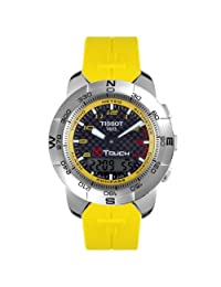 Tissot Mens T33786893 T-Touch Nascar Collection Special Edition Multi-Function Yellow Rubber Watch