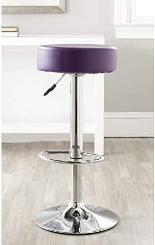 Safavieh Home Collection Jude Purple Adjustable Swivel Gas Lift 25.6-31.5-inch Bar Stool