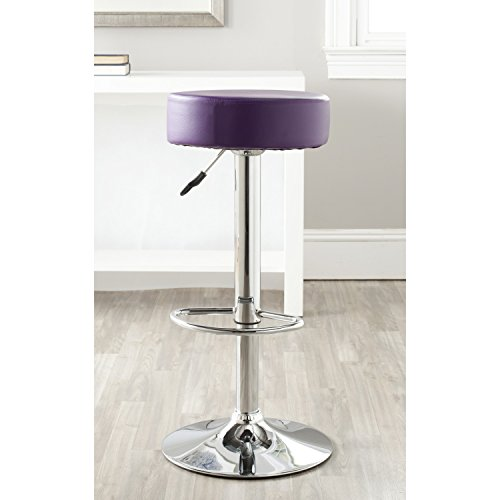 Safavieh Home Collection Jude Purple Adjustable Swivel Gas Lift 25.6-31.5-inch Bar Stool