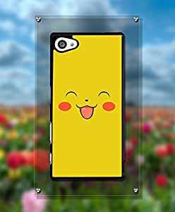 Cartoon Pikaqiu Funda Case For Sony Z5 Compact, Personalized + Cool Lovely Design Drop Proof Tough Hard Compatible with Sony Xperia Z5 Compact [Just fit for Z5 Compact]