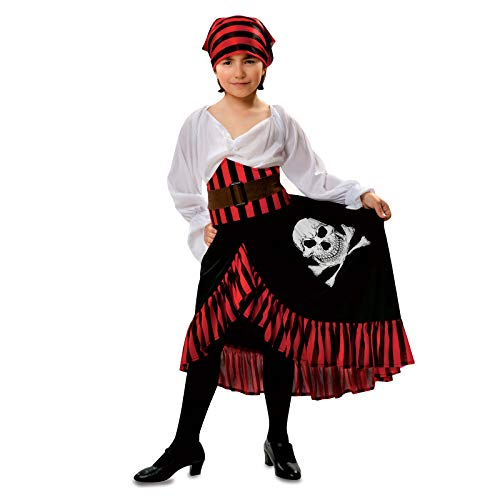 Girls Pirate Costume Halloween Kids Deluxe Costume Set (Swashbuckler 7-9 -