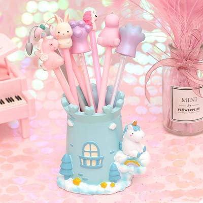 Soporte Para Bolígrafo De Resina Kawaii Pink Unicorn Shape ...