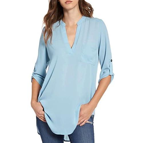34995860a outlet Zonsaoja Camiseta De Manga 3 4 Para Mujer Camisetas Tops Blusa  Casual Camiseta De