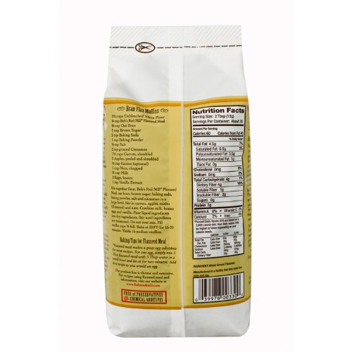 Bob's Red Mill Flaxseed Meal Gluten Free 16 Oz (Pack of 4)