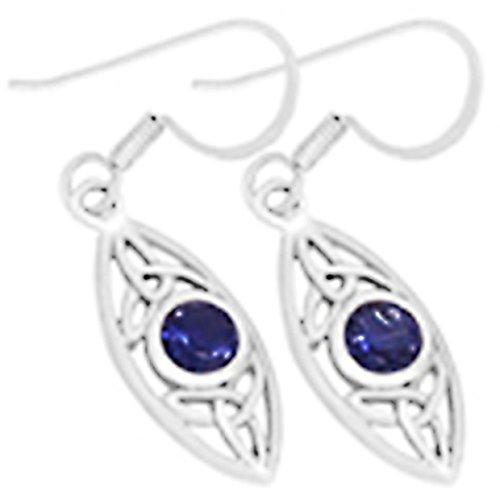 Boucles d'oreilles avec Lolite et argent Fin 925 Collection Celtique
