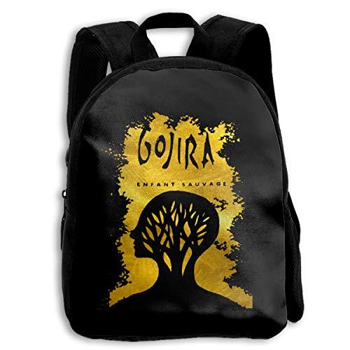 Gojira L'enfant Sauvage School Backpack Travel Bag For Boys And Girls