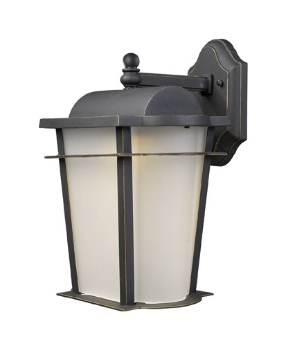 Elk 43006/1 Hampton Ridge 1-Light 11-Inch W x 18-Inch H Outdoor Led Sconce In Weathered Charcoal ()