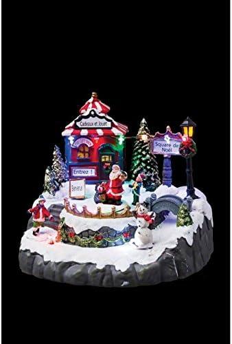 F/éerie christmas Village de No/ël lumineux et anim/é Boutique cadeaux et jouets