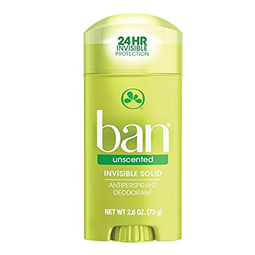 Ban Anti-Perspirant Deodorant Invisible Solid Unscented 2.60 oz (2 pack) Ban Deodorants Anti Perspirant