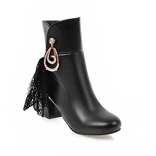Noir Femme Compensées Sandales Abl09576 Balamasa Iq4PA74w