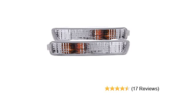 Anzo USA 511009 Honda Accord Chrome Euro w//Amber Reflector Bumper Light Assembly Sold in Pairs