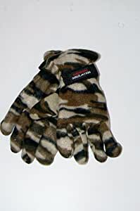 Camouflage Thermal Insulation Gloves (One Size Fits Most) by Griffin Winter Wear