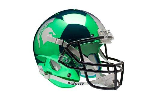 NCAA Michigan State Spartans Replica XP Helmet - Alternate 2 (Chrome Kelly) by Schutt