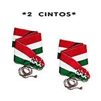 -2 CINTOS TRICOLOR-, Hecho en Chiapas. Unitalla. MEXICO