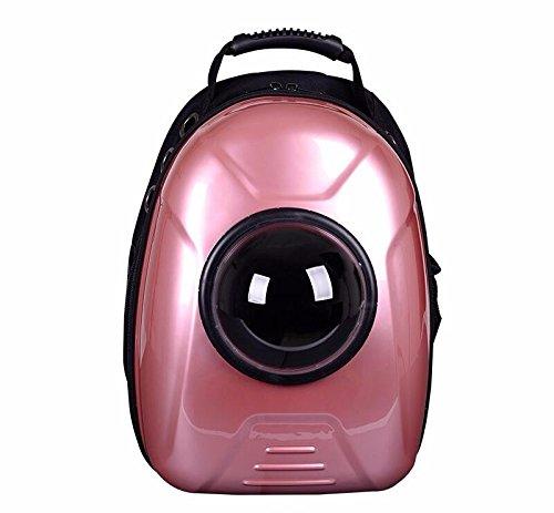 Kapselförmige PET-Träger atmungsaktive PET-Rucksack für Hund draußen Reisen Portable Frauen Katze Cartoon Taschen Heimtierbedarf, goldenen, mit Spurstangen