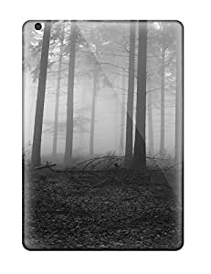 Barbara Gorman Premium Protective Hard Case For Ipad Air- Nice Design - Dark Forest Earth Fog Nature Fog