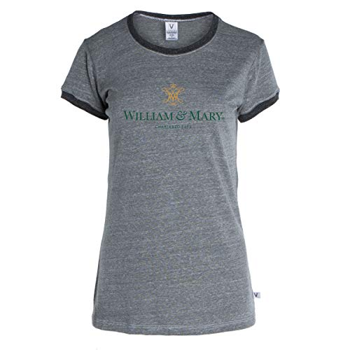 Official NCAA William & Mary Tribe - Women's Crew Neck Ringer Tee