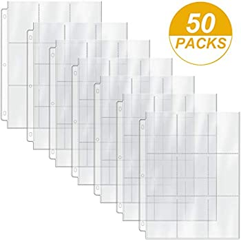 Trading Card Pages x 50 select style Ultra Pro Max Pro Budget 9 pocket