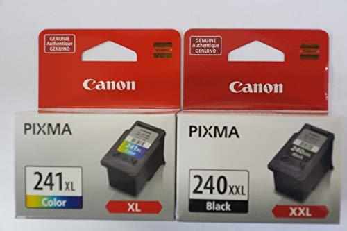 (Canon PG-240XXL Extra High Capacity Black Ink Cartridge (5204B001) + CL-241XL Color Ink Cartridge (5208B001))