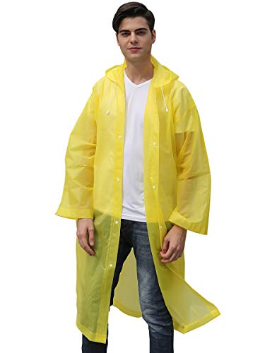Water-Resistant Disposable Rain Jacket Coat (No Pocket-Yellow) for $<!--$7.59-->
