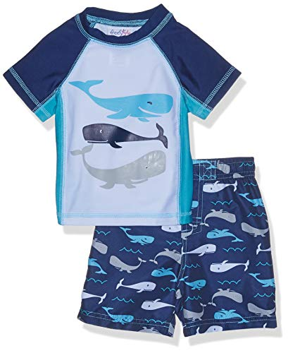 - Freestyle Revolution Baby Boys Whale of A Tail Rash Guard Top and Shorts Set, Multi, 18M