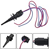 Paddsun Ambient Air Temperature Sensor w/Connector Wires For BMW Replaces 65816905133 65816905050