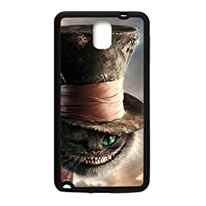 Note 3 Case Fuuny Cheshire Cat Wear A High Hat Samsung Galaxy Note 3 (Laser Technology)
