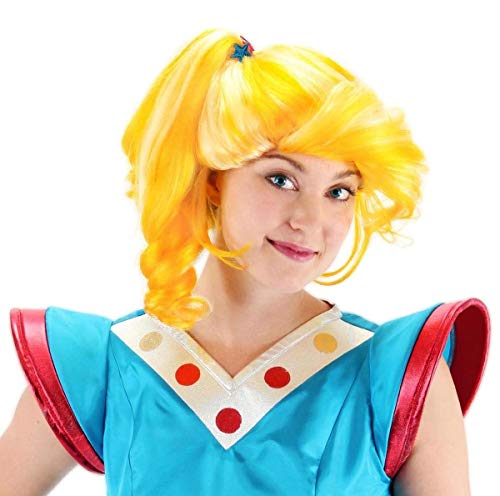 elope Rainbow Brite Deluxe Wig, Yellow, One Size ()