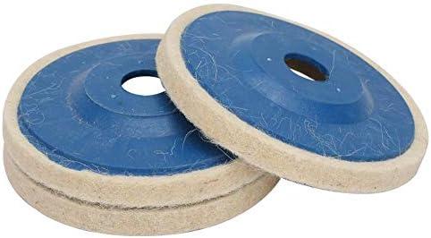 3 Stück 4 Zoll Abgewinkelt Wolle Rad Wolle Polierscheibe Filz Disc Polieren
