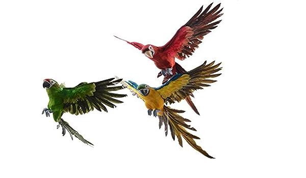 Loro de peluche con figura de pájaro decorativo de plumas de ...