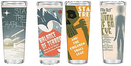 Star Trek The Original Series Fine Art Shot Glasses Set 2 of 20, (Set of 4) (Collectible Star Trek Glasses)