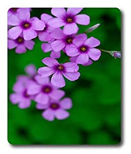 customized mouse mats Purple Flowers on the Leaves PC Custom Mouse Pads / Mouse Mats Case Cover