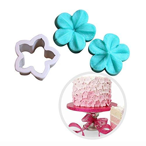 Embossing Petals - KALAIEN 5 Petals Flower Embossing Mould Flower Cake Design Moulds Gumpaste Molds for Cupcake